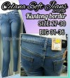 Celana Panjang Jeans Biru Ada Big size nya 27-36 Pencil Soft Jeans Model Terbaru Kantong Bordir